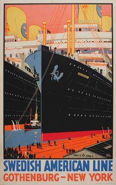 Swedish American Line - Gothenburg - New York Rodmell, Harry Hudson (1896-1984)