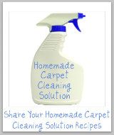 several recipes for homemade carpet cleaning solution from stain-removal-101.com.