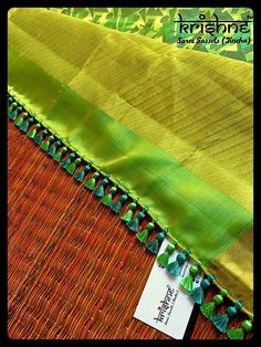 Krishne's tassel collection includes traditional kuchu, crochet patterns, contemporary and bridal saree tassels.Price ranges between and Saree Kuchu New Designs, Saree Tassels Designs, Silk Saree Blouse Designs, Blouse Designs High Neck, Floral Print Sarees, Beadwork Designs, Passementerie, Saree Dress, Hand Embroidery Designs