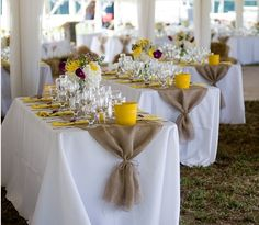 pinterest burlap reception | ... / Burlap... can give an elegant country look for a summer reception