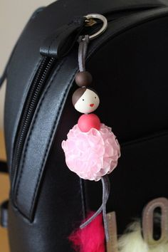 Keychain Ballerina Hand Painted Wooden Doll Beaded Wood   Etsy Wooden Dolls, Ballerina, Hand Painted, Unique Jewelry, Handmade Gifts, Etsy, Vintage, Kid Craft Gifts, Ballet Flat