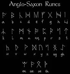 Runic Alphabets - they served for divinatory and ritual purposes, as well as the more practical use; there are three main types of Runes; Germanic, Scandinavian/Norse, and Anglo-Saxon and they each have any number of variations, depending on the region from which they originate