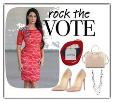 """Rock the Vote"" by lilyboutique ❤ liked on Polyvore featuring Christian Louboutin, Givenchy, red, LilyBoutique and rockthevote"