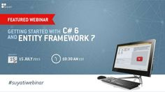 Join our upcoming webinar on July 15th and learn how to get started with C#6 and Entity Framework 7