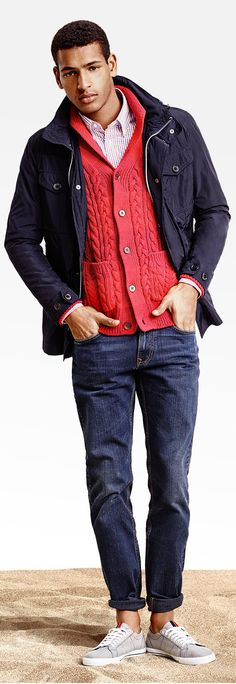 Tommy Hilfiger | Men's Fashion | Menswear | Men's Casual Outfit for Spring/Summer | Moda Masculina | Shop at designerclothingfans.con