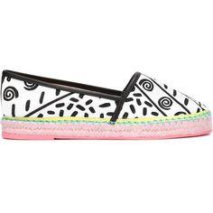 Sophia Webster 'Juana Kapowski' Espadrilles (2 725 ZAR) ❤ liked on Polyvore featuring shoes, sandals, sophia webster, espadrilles shoes, black and white sandals, black and white shoes and espadrille sandals