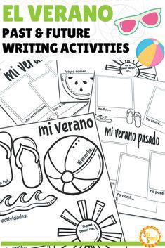 El Verano Summer Writing Activity in Spanish & English Spanish Activities, Writing Activities, Classroom Activities, Classroom Ideas, Spanish Lesson Plans, Spanish Lessons, Spanish 1, Bilingual Classroom, Bilingual Education