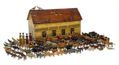 Erzgebirge region, with cottage industry style production. Due to the intricacy, fine detailing and numerous parts, few have survived in good condition, when found they can fetch prices in excess of £10,000.