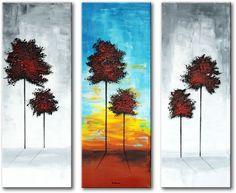 Een drieluik schilderij voor een moderne kunstmuur Airbrush, Canvas, Painting, Art, Pintura, Tela, Craft Art, Painting Art, Kunst