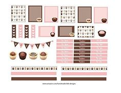 Weekly planner stickers Chocolate sized to fit most planners Happy Planner Erin Condren or scrapbook elements Kiss cut just peel and stick >>> See this great product.Note:It is affiliate link to Amazon.