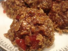 No Bake Chocolate Cover Cherry Oatmeal Cookies Recipe - Baking.Food.com