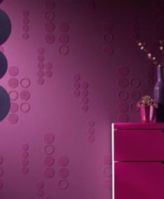 Ontario Wallcoverings RollOver Vision 2 Dots Paintable Wallpaper Roomset