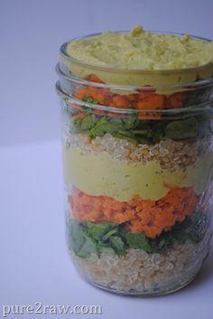 Quinoa salad in a mason jar (great portable lunch)