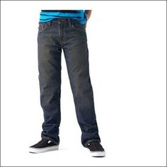 levi's jeans for men Signature by Levi Strauss & Co. Boys' Husky Straight Jeans 14Stragiht