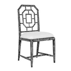 Bungalow 5 Georgica Side Chair in Black Php, Side Chairs, Dining Chairs, Dining Room, Chippendale Chairs, Bungalow 5, Garden Deco, Faux Bamboo, Chair Bench