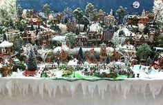 displaying christmas villages | The finished Christmas village display, complete with park in the ...