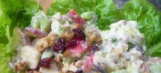 Salade Waldorf minceur & légère - recette vegan, végétalienne, végétale - cuisine de légumes, facile & rapide