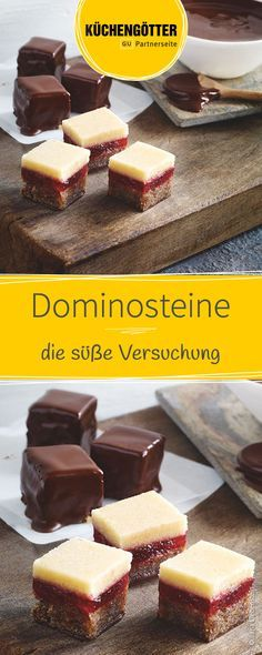 Dominosteine These fruity chocolate dominoes are very easy and quick to prepare. Packed sweet, they can be given away to your loved ones. Vegan Desserts, Fun Desserts, Mini Cakes, Cupcake Cakes, German Cookies, Sweets Cake, Christmas Sweets, Holiday Cookies, Four