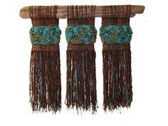 Arte Textil Marianne Werkmeister: Cielo y Tierras Australes Weaving Textiles, Weaving Art, Tapestry Weaving, Loom Weaving, Circular Weaving, Diy Belts, Fibre And Fabric, Creative Textiles, Weaving Projects