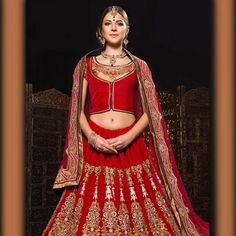#Red #LehengaCholi with Dupatta