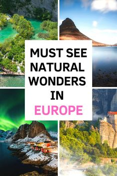 9 Natural wonders in Europe Places In Europe, Europe Destinations, Best Places To Travel, Europe Europe, Europe Must See, Europe Band, Europe Travel Outfits, Europe Travel Guide, Hiking Europe