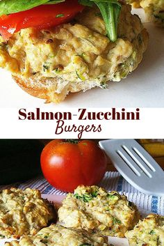 #healthy Salmon-Zucchini Burgers! So easy and healthy! Perfect for summer! #paleo #glutenfree