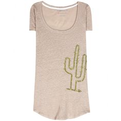 81hours - Perry Cactus embellished linen T-shirt - Sequin embellishment lifts this understated linen tee, making it a standout off-duty option. We love the playful cactus design against the lightweight grey linen. Style with jeans or denim shorts for a relaxed look that still has a touch of personality. seen @ www.mytheresa.com
