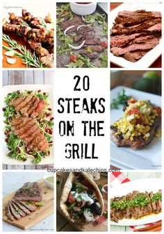 20 Recipes for Steaks on the Grill - fire up the grill because there's not much better than beef that's been grilled to perfection. You'll find the recipe you want right here! | cupcakesandkalechips.com