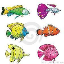 Resultado de imagem para desenhos de peixes ja coloridos