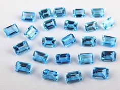10 Pcs Genuine AAA Swiss Blue Topaz Octagon Normal Cut Handmade Gemstone #Empressbeads #NormalCut