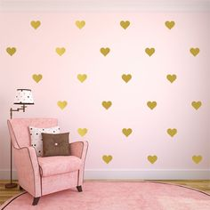 Gold Heart Decal Gold Heart Decals Heart Wall by SignJunkies