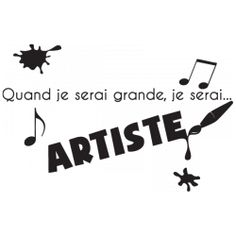 Sticker Je serai artiste