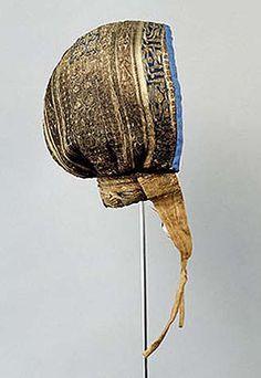 Coif of infante Fernando of Castile (1189-1211), silk with gold embroidery, Convent Las Huelgas near Burgos