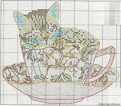 Схемы вышивки - котенок в кружке и в горшочке (14) (700x615, 491Kb)