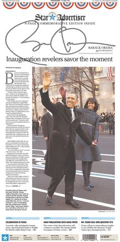 The Honolulu Star-Advertiser, Honolulu, Hawaii | The 27 Best Local Newspaper Front Pages About The Inauguration