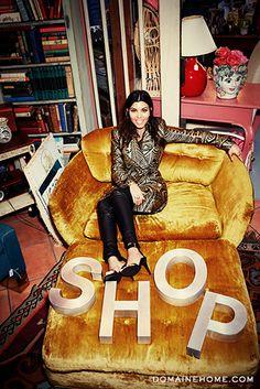 @Domaine goes vintage shopping with Kourtney Kardashian!