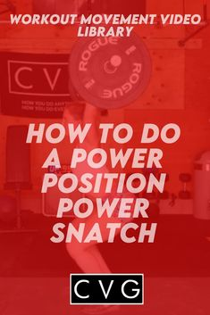 Welcome to our movement library! You are on your way to healthy and strong gains! This video will go over the power position power snatch movement. You Fitness, Fitness Goals, Crossfit Workouts At Home, High Intensity Workout, Ways To Burn Fat, Kettlebell, Positivity, Strong, Healthy