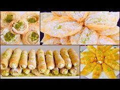 4 Easy Desserts Eid Special Recipes چهار نوع شیرینی بی نظیر و آسان مخصوص عید - YouTube Puri Recipes, Sweets Recipes, My Recipes, Healthy Recipes, Healthy Food, The Cream, Eid Sweets, Indian Sweets, Special Recipes
