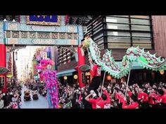 Yokohama China Town, the biggest china town in japan, will celebrate the Chinese New Year from 02/10 (S) to 02/24 (S).  Dances, a dragon parade, an acrobat show, Beijing Opera, and so on.  During the Chinese New Year days,  restaurants will serve special menus.    http://www.chinatown.or.jp/agenda/event/984