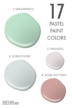 These 17 pastel paint colors and soothing hues can add ambience and a fresh glow to any room of your home. With shades of soft mints and butter yellows, no matter your design style, you're sure to find the perfect hue for you.