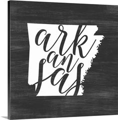 Great Big Canvas 'Home State Typography Arkansas' Inner Circle Graphic Art Print Format: White Frame, Size: H x W x D Canvas Home, Canvas Wall Art, Wall Art Prints, Canvas Prints, Big Canvas, Abstract Canvas, Abstract Print, Circle Canvas, State Outline