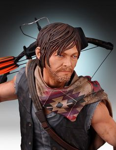 The Walking Dead Statues - Daryl and The Wolves Statue