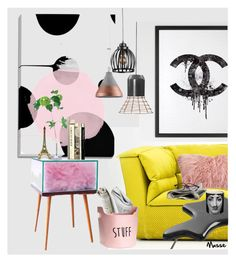 """""""Sin título #1714"""" by mussedechocolate ❤ liked on Polyvore featuring interior, interiors, interior design, home, home decor, interior decorating, Dilmos, Chanel, Saro and ClassiCon"""