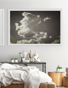Nature Photography, Large Wall Art, Cloud Wall Art, Black And White Print, Vintage Wall Art, Cloud Print, Cloud Poster Landscape Photography