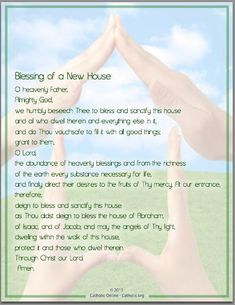 Prayers - Blessing of a New House