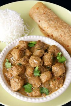 SUB CHICKEN FOR SOY CHUNKS - A healthy and protein rich Soya curry made with soya chunks and flavored with Soy milk. Easy to make and extremely delicious. Go well with just anything, rice, dosa, indian breads or regular sandwich breads. Veg Recipes, Curry Recipes, Indian Food Recipes, Vegetarian Recipes, Cooking Recipes, Healthy Recipes, Indian Foods, Indian Snacks, Milk Recipes