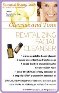 doterra essential oils Revitalizing Facial Cleanser
