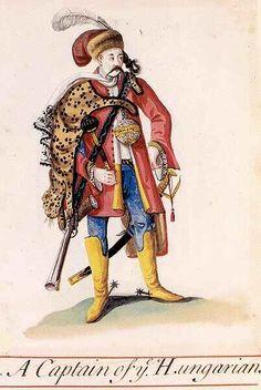 Węgierski kapitan - akwarela XVII wiek