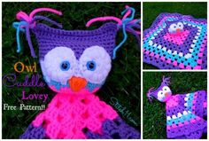 Owl Cuddle Lovey by @corinagray