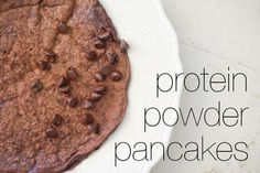 Pancake recipes made from protein powder.  No flour or oil but still delicious and packed with protein!